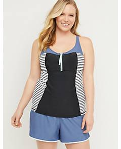 24486d22882 image of Fitted Cacique Sport Swim Tankini Top with Balconette Bra with  sku:301607