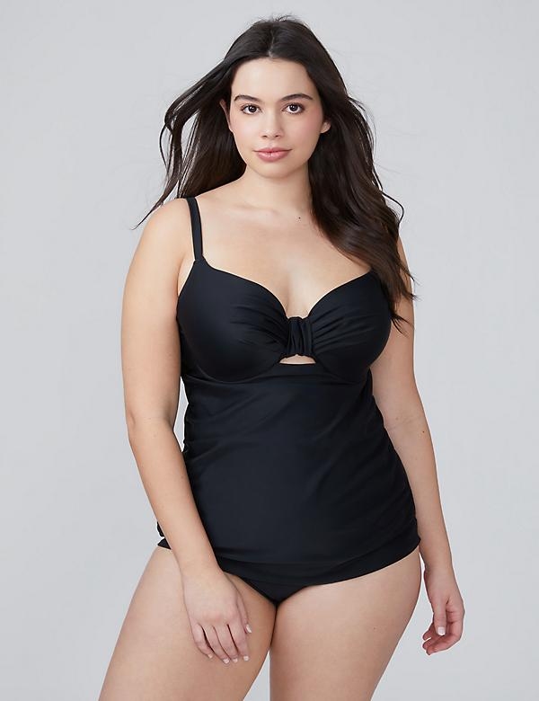 Keyhole Swim Tankini Top with Built-In Balconette Bra