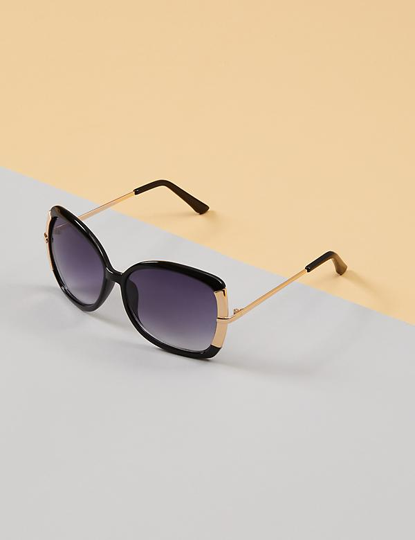 Butterfly Sunglasses with Metal Arms