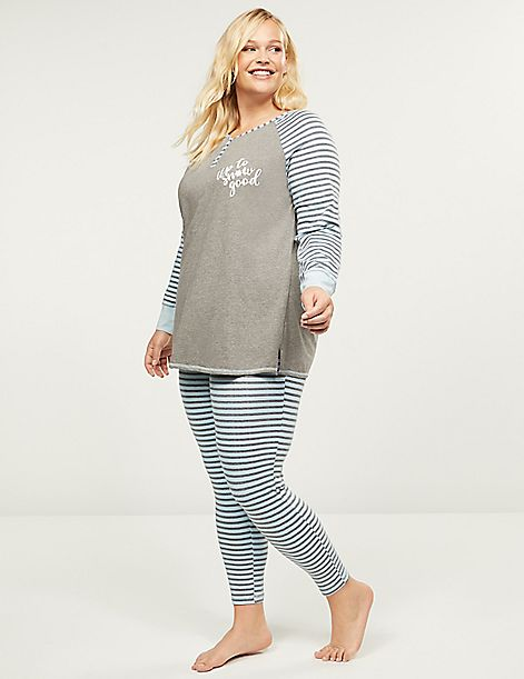 Henley Tee & Legging PJ Set