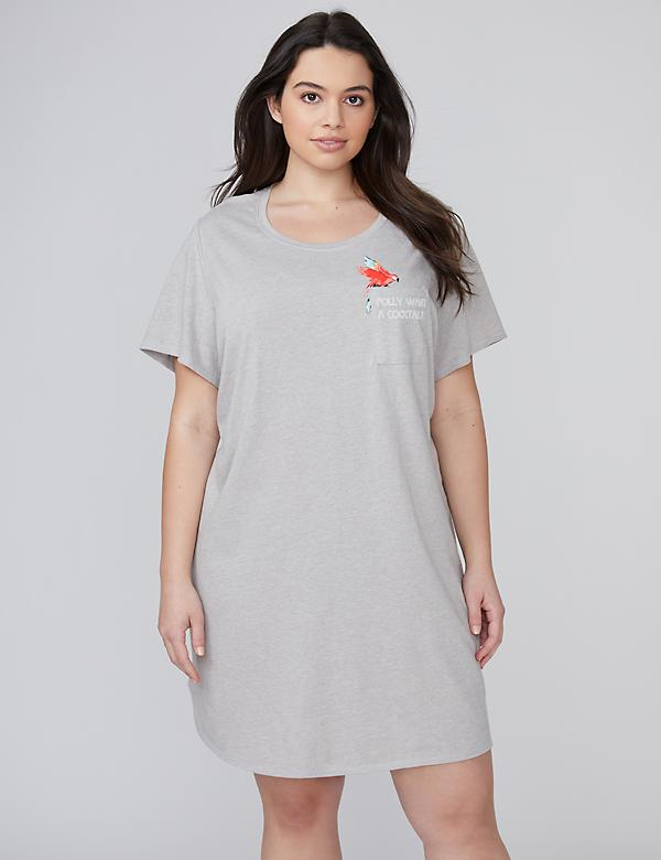 Graphic Shirttail Sleepshirt