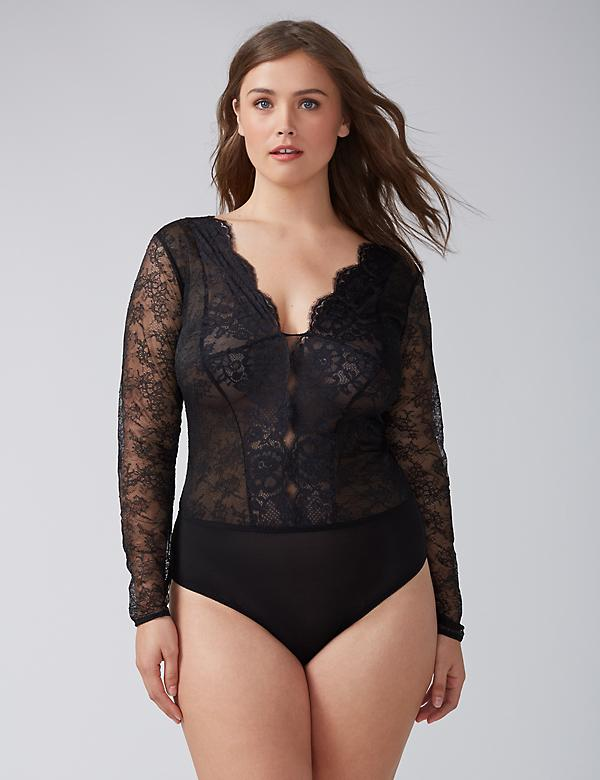Eyelash Lace Bodysuit