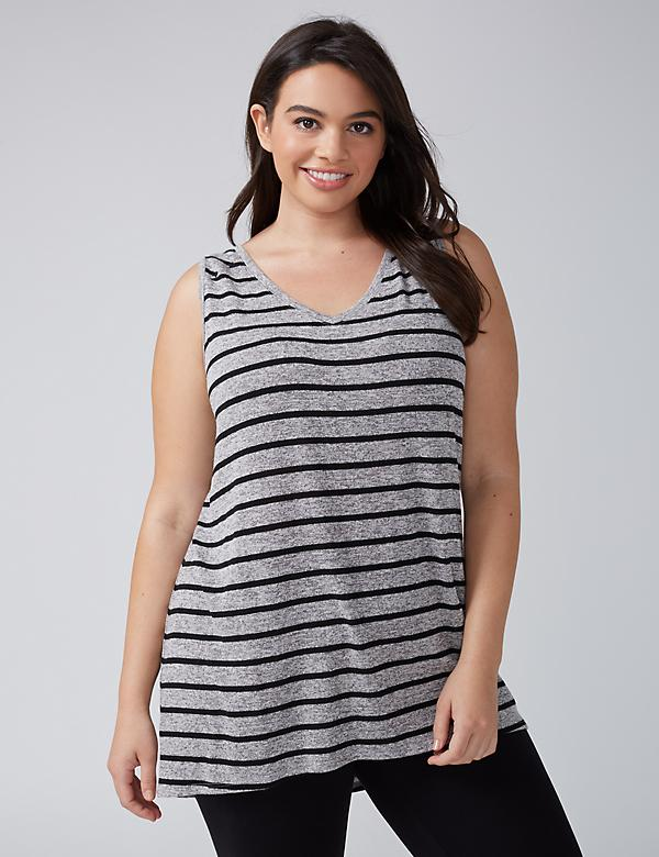 Striped Hacci Active Tank