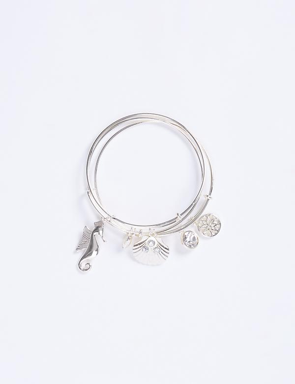 3-Row Sea Life Bangle Set