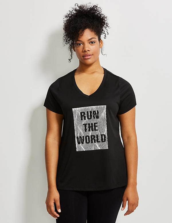 Wicking Reflective Run the World Active Tee