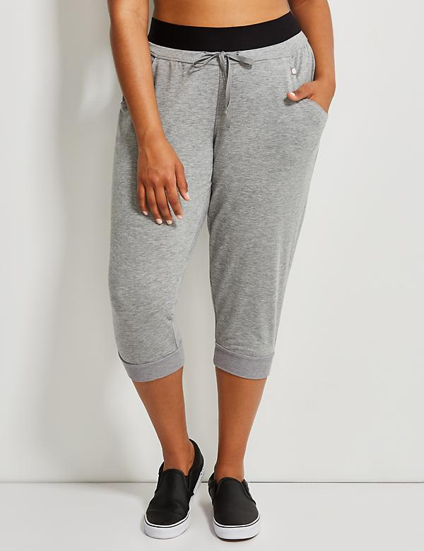 Spa Active Capri Jogger with Elastic Waistband
