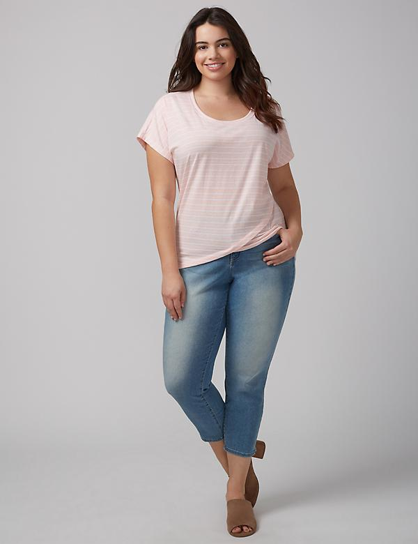 Peach Stripe Mercer tee