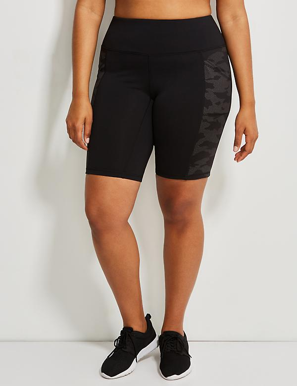 Wicking Reflective Camo Active Knee Short
