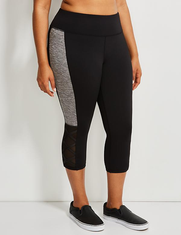 Wicking Active Capri Legging with Criss-Cross Detail