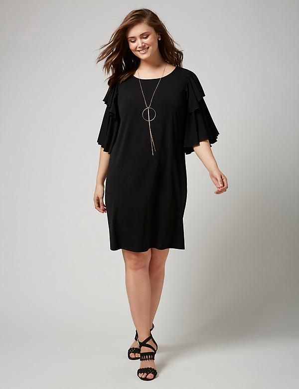 Fast Lane Ruffle-Sleeve Dress
