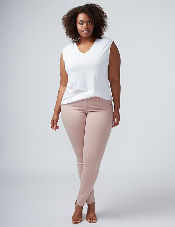 Super Stretch Skinny Jean - Light Rose