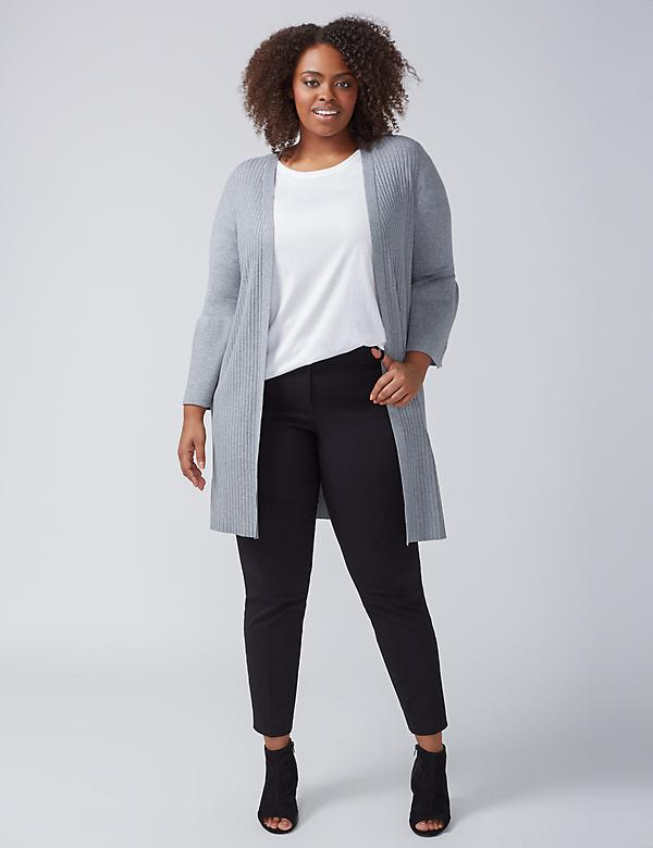 Bell-Sleeve Duster Sweater