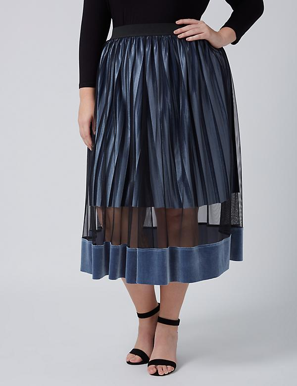Fast Lane Velvet Illusion Midi Skirt
