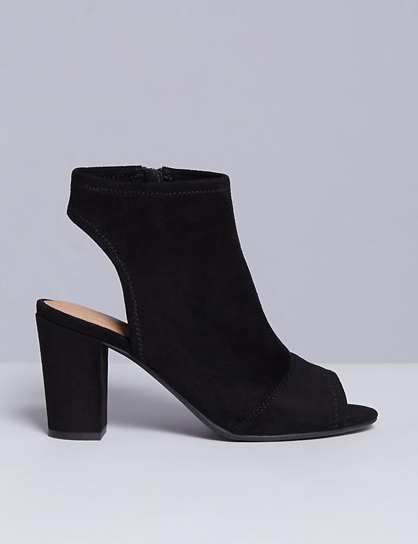 Stretch Peep-Toe Bootie