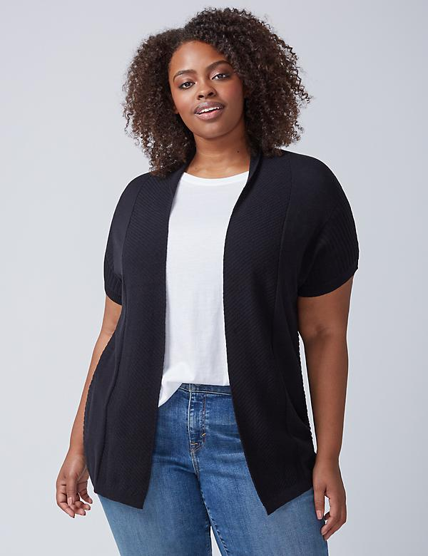 Short-Sleeve Ribbed Overpiece