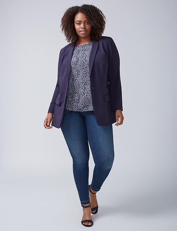 Tailored Stretch Girlfriend Blazer