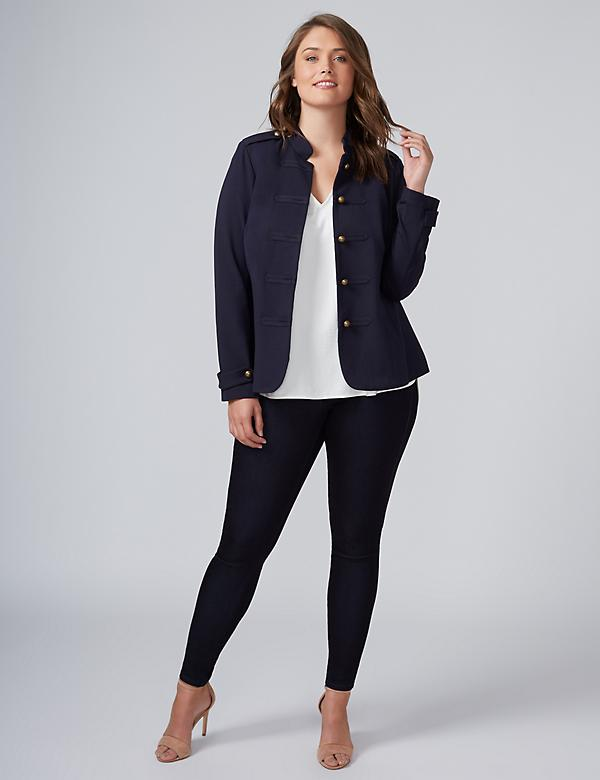 Sateen Indigo Jegging
