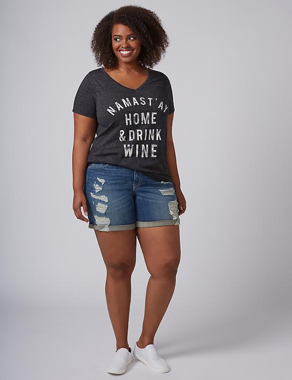 Namastay Home & Drink Wine Graphic Tee