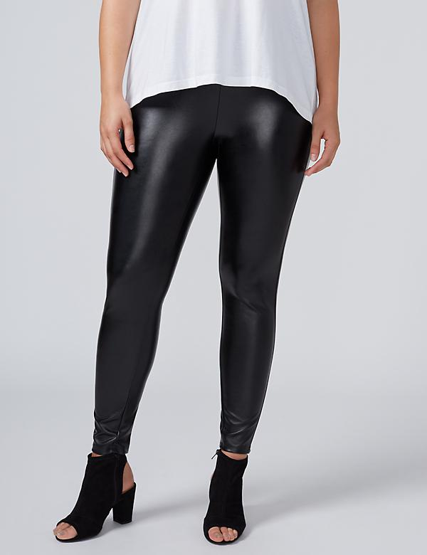 All-Over Faux Leather Legging