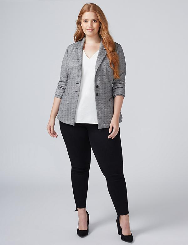 Allie Crosshatch Blazer