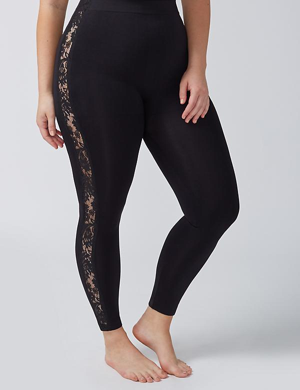 Lace-Inset Legging