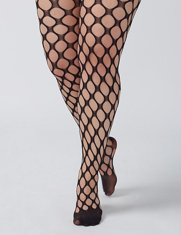 Open-Weave Thigh Highs