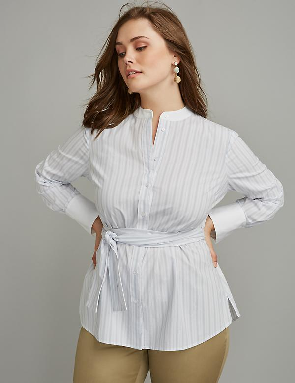 Tie-Waist Shirt by GLAMOUR X LANE BRYANT