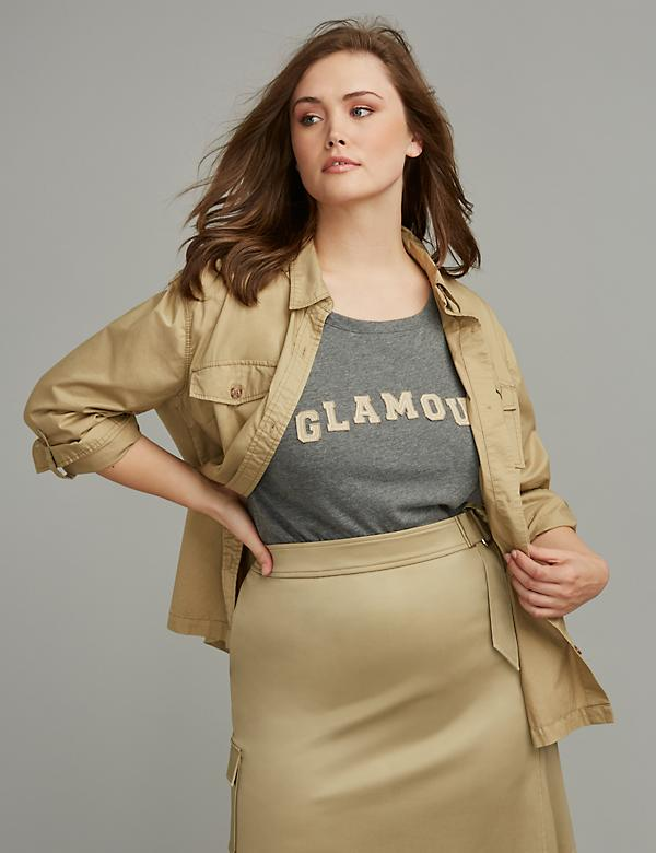 Utility Shirt by GLAMOUR X LANE BRYANT