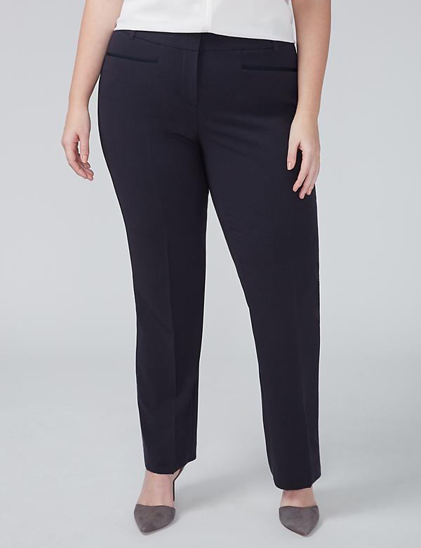Ashley Tailored Stretch Straight Leg Pant with T3 Technology