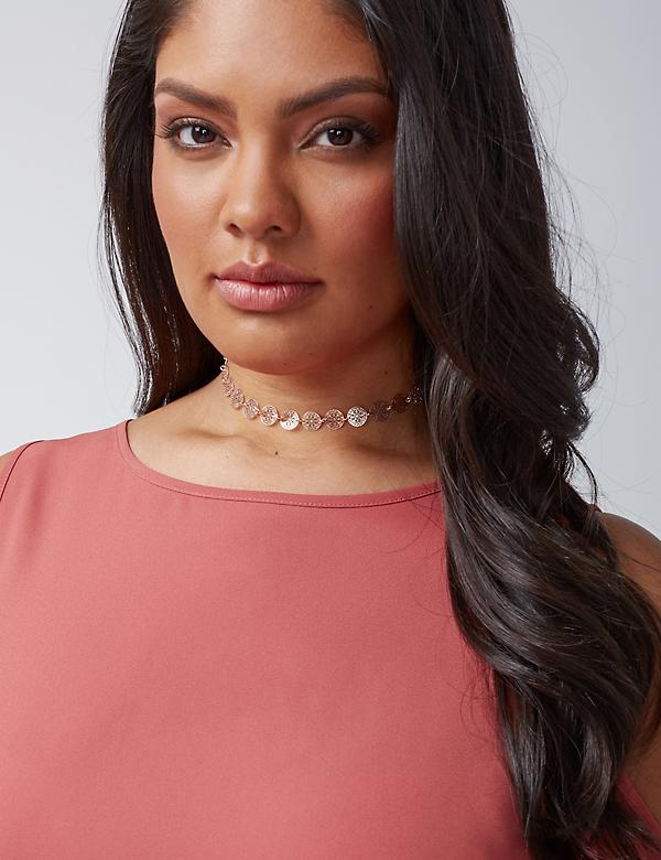 Set of 3 Rose Gold Choker Necklaces