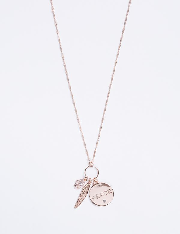 Long Necklace with Inspirational Pendants