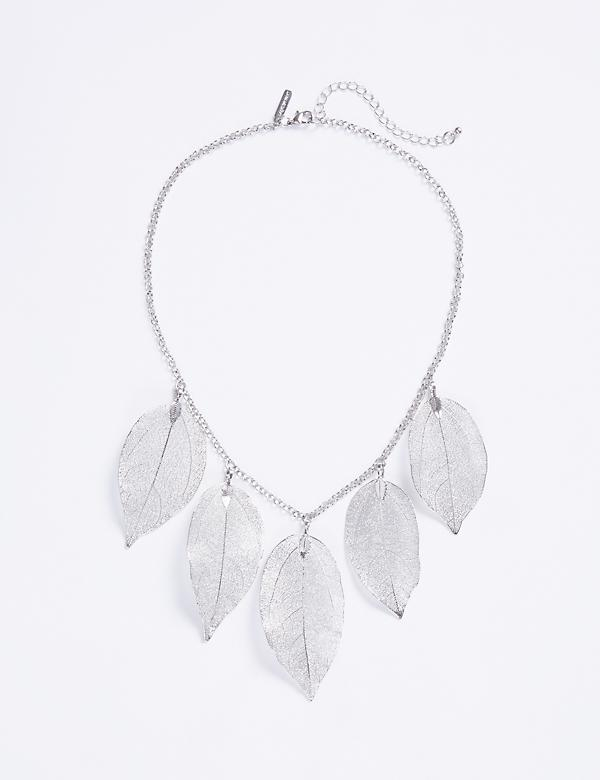 Short Leaf Statement Necklace