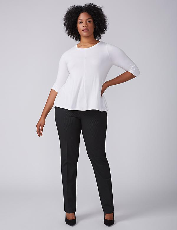Sophie Tailored Stretch Straight Leg Pant - Striped