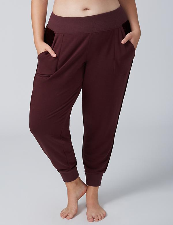 Sleep Jogger with Velvet Trim - Long Length