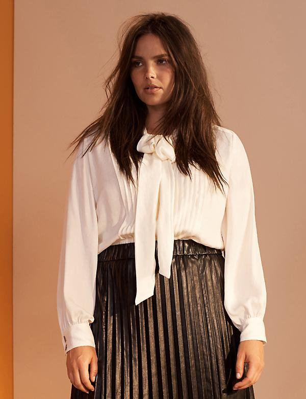 Pintuck Bow Blouse by Prabal Gurung