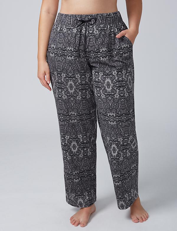 Sleep Pant with Velvet Tie - Long Length