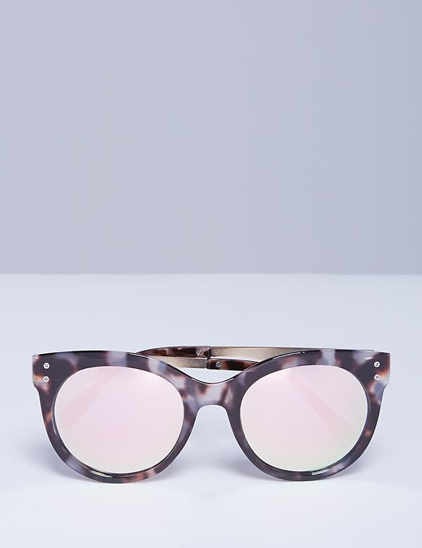 Marbled Sunglasses with Metal Arms
