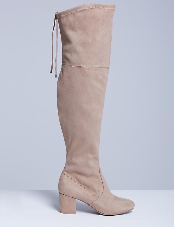 Over-the-Knee Boot with Low Block Heel