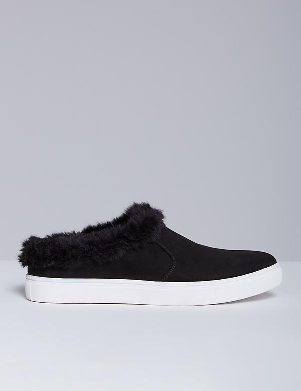Sneaker with Faux Fur Trim