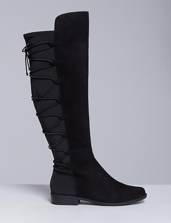 Corset-Back Over-the-Knee Boot