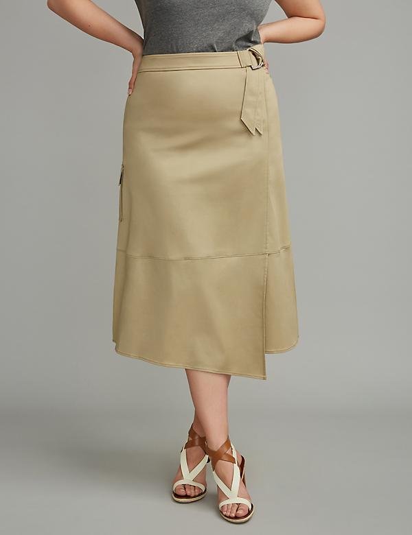 Faux Wrap Utility Skirt by GLAMOUR X LANE BRYANT