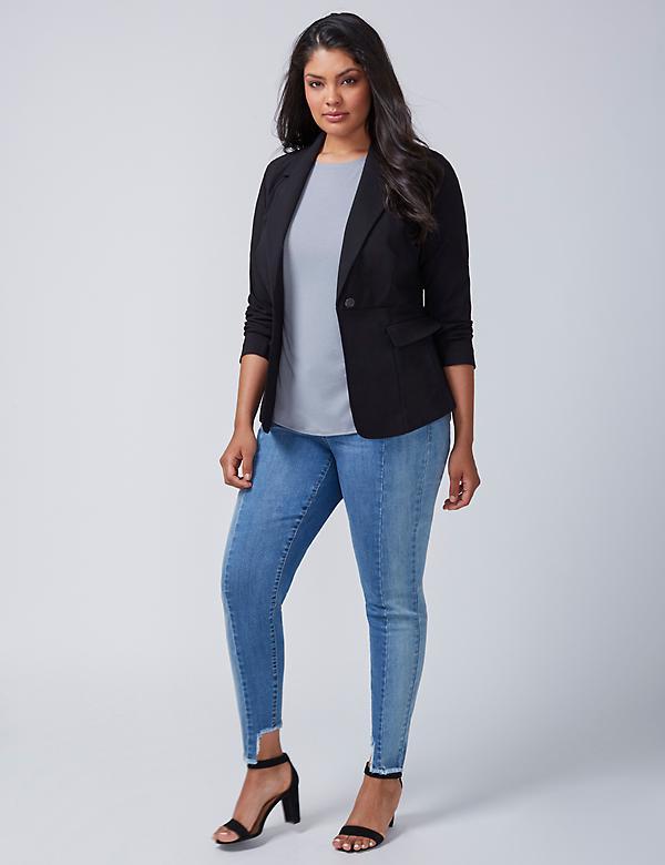 Women's Plus Size Moto Jackets, Blazers & Coats | Lane Bryant