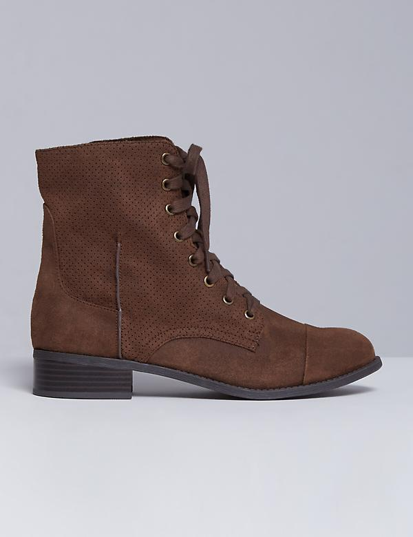 Perforated Combat Boot