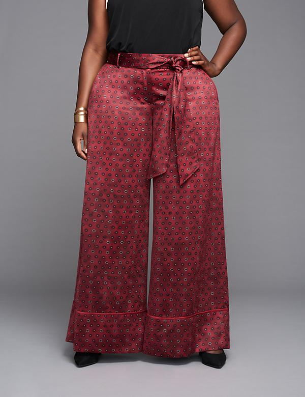 Printed Wide Leg Pant by GLAMOUR X LANE BRYANT