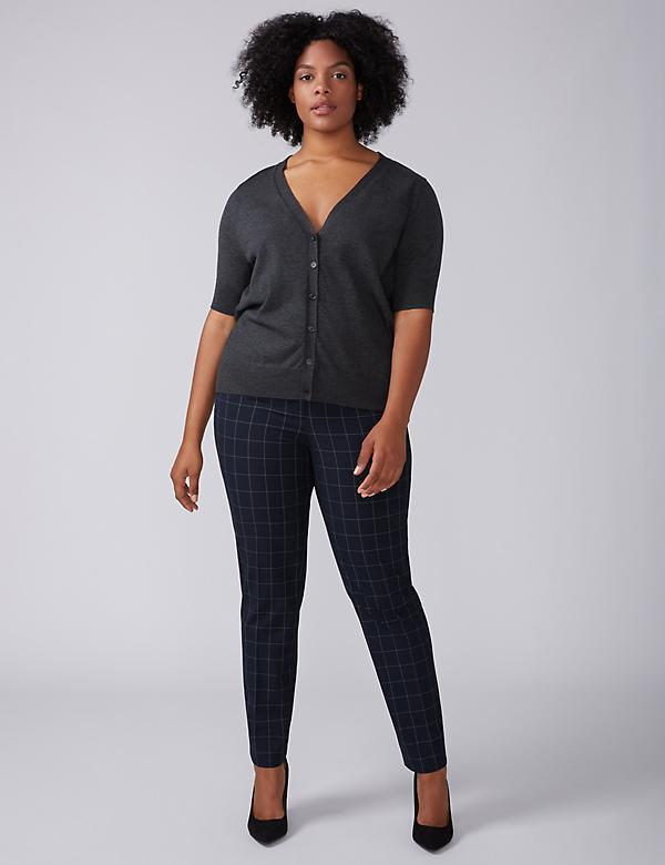 Sophie Tailored Stretch Straight Leg Pant - Windowpane