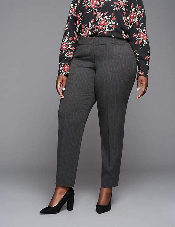 Striped Ankle Pant by GLAMOUR X LANE BRYANT