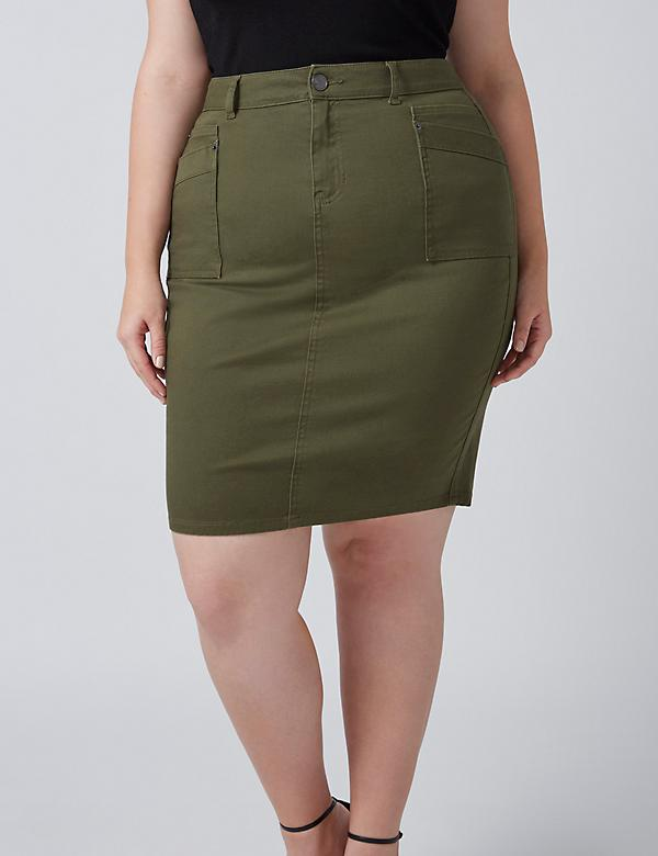 Fast Lane Patch Pocket Skirt