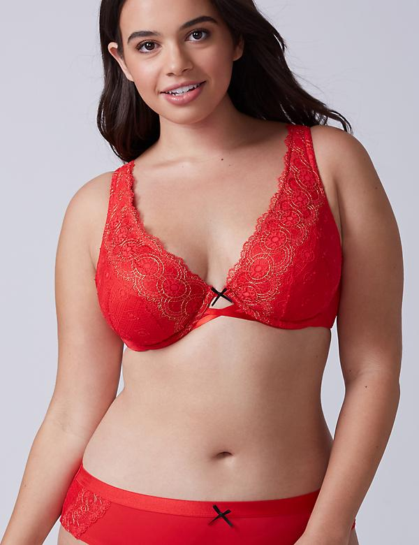 Unlined Lace Plunge Bra