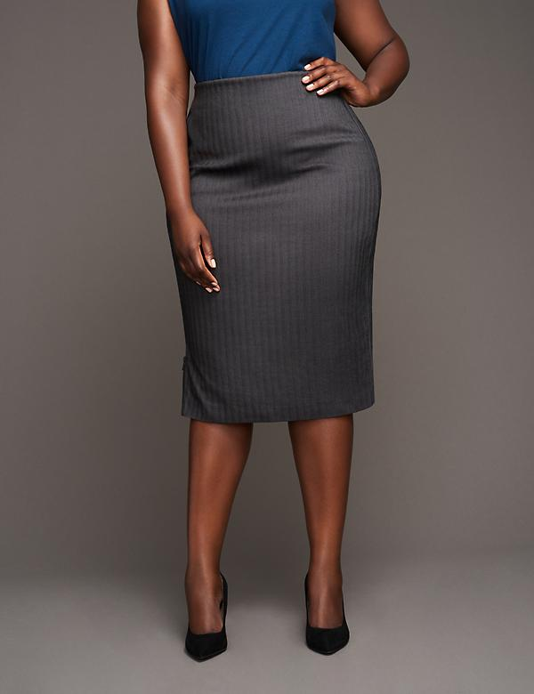Side-Zip Pencil Skirt by GLAMOUR X LANE BRYANT