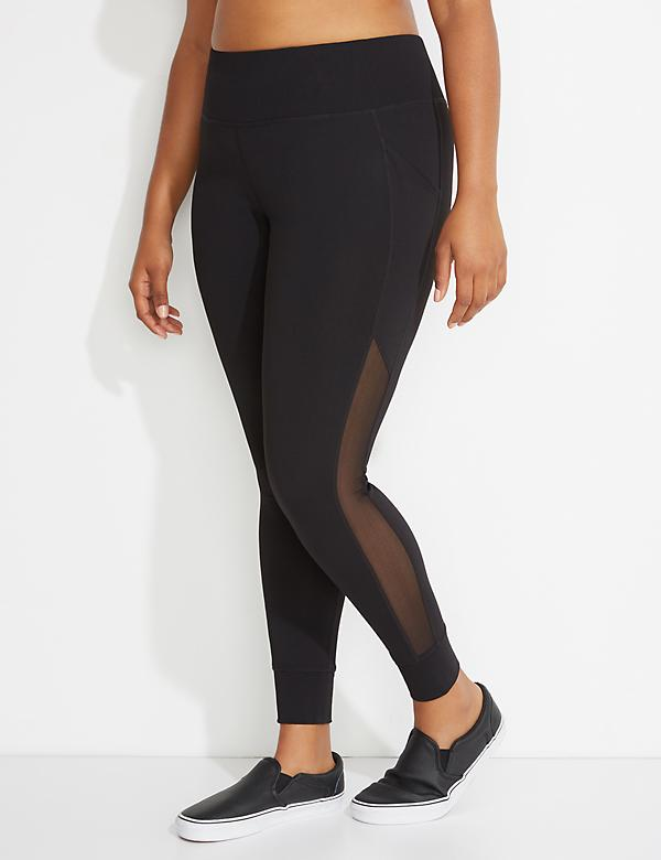 Wicking Mesh-Spliced Active Legging